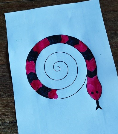 coloriage serpent