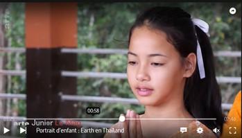 Earth jeune Thaïlandaise