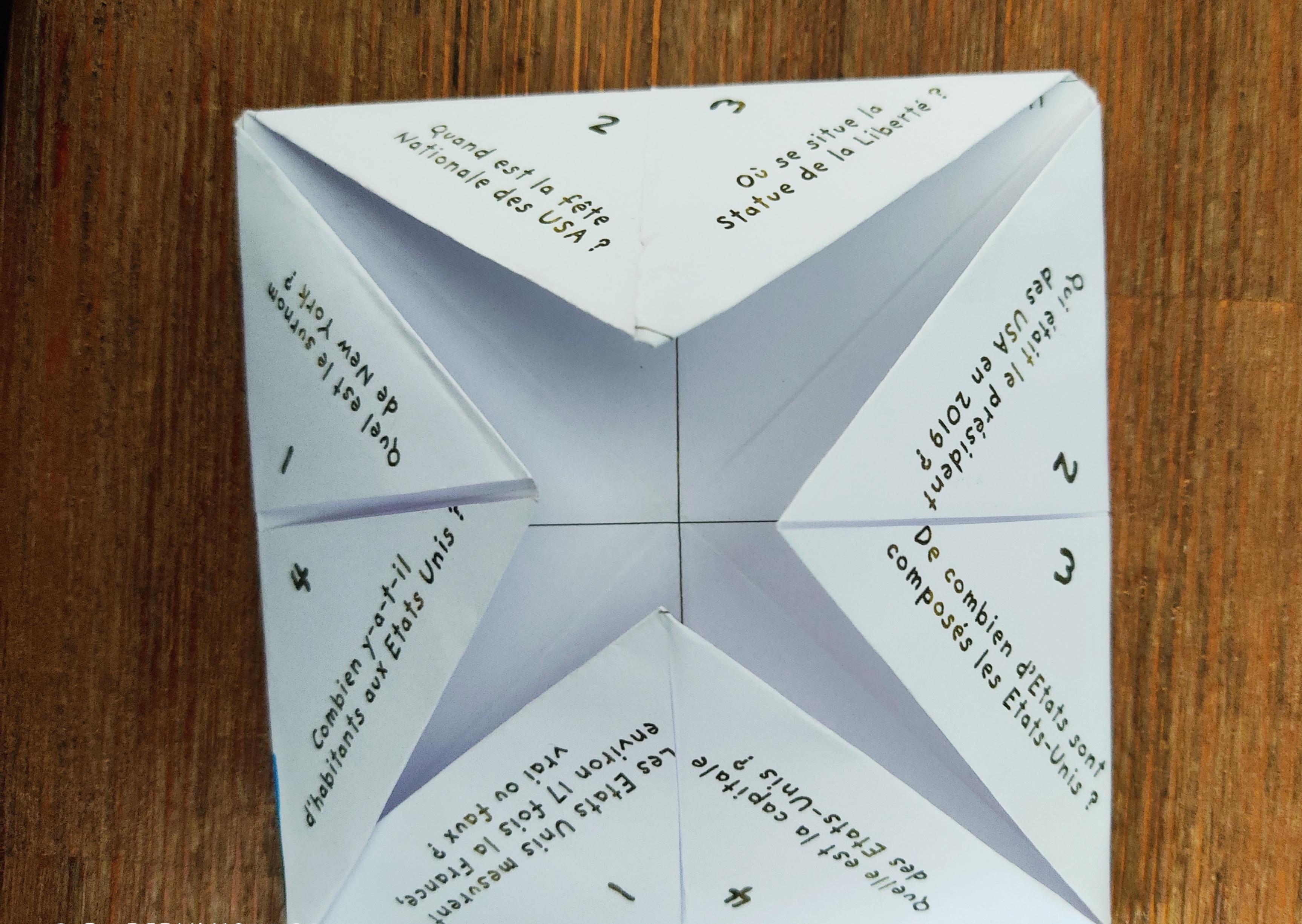 pliage cocotte papier 2