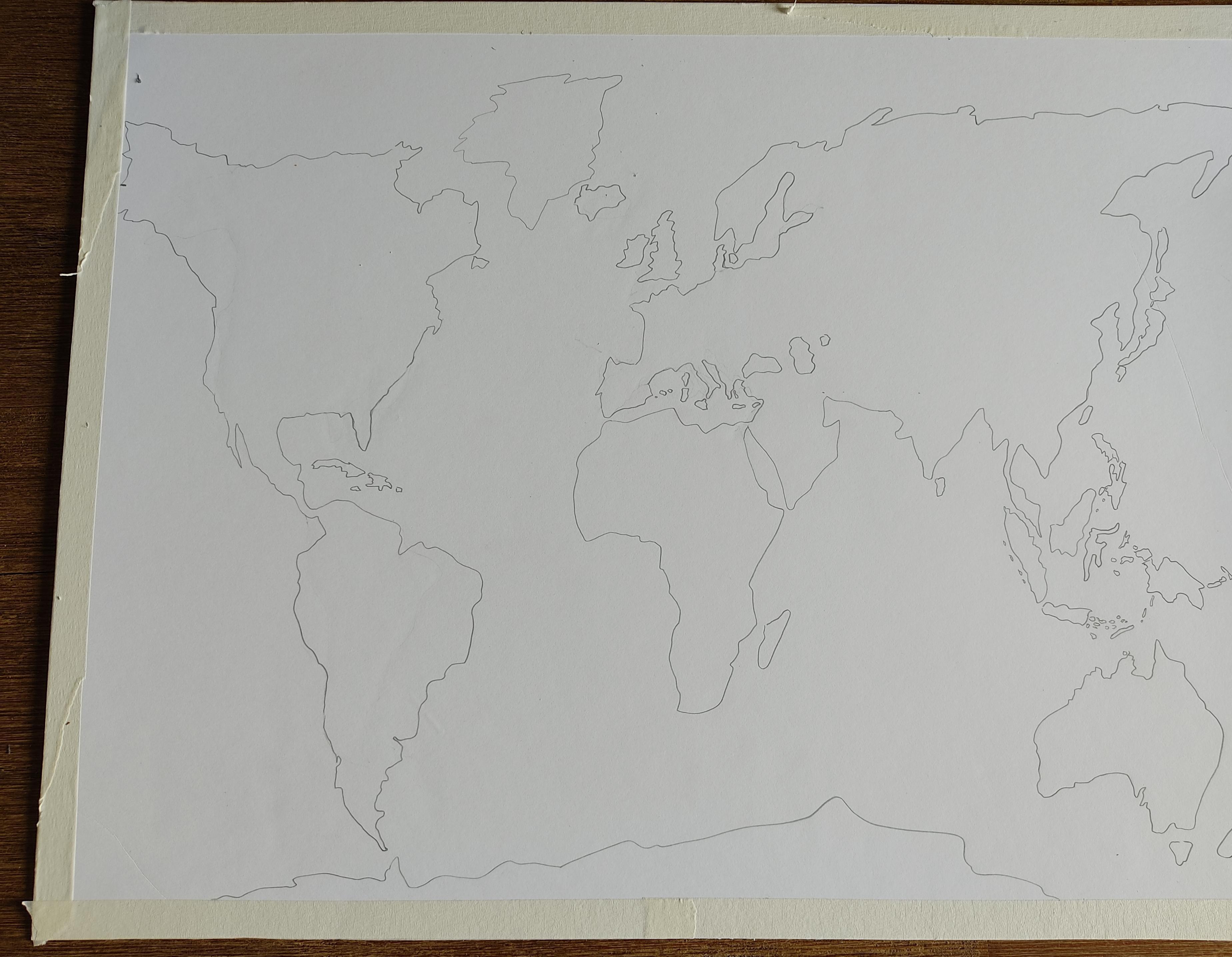 tracé continents