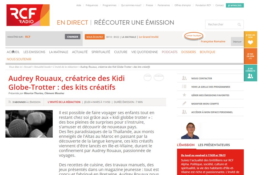 interview radio RCF Rennes